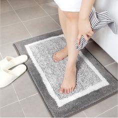 UltraThick Pile NonSlip Chenille Bathroom Rug Floor Mat