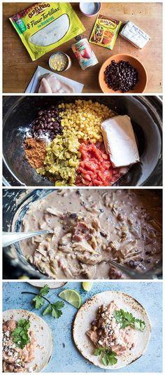Creamy Slow-Cooker Chicken Tortillas Recipe