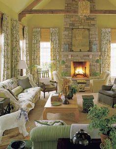 Cozy Decor - Big Houses - Connecticut - Markham Roberts - House Beautiful