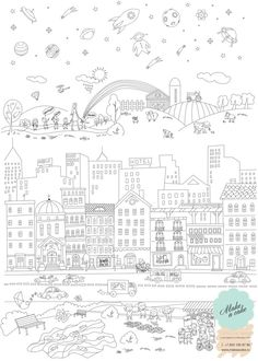 Big coloring poster for kids for Make a Cake company by Formm Digital Agency, via Behance