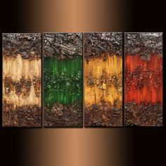 Original Textured Abstract painting Contemporary Multipanel Fine Art by Henry Parsinia Large Texture Painting On Canvas, Canvas Art, Inspiration Artistique, Floral Wall Art, Art Abstrait, Mural Art, Texture Art, Modern Wall Art, Contemporary Paintings