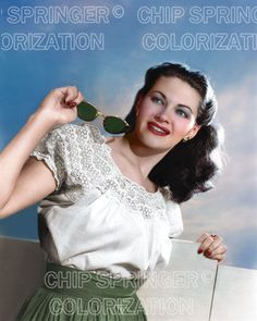 YVONNE DE CARLO WITH SUNGLASSES BEAUTIFUL COLOR PHOTO BY CHIP SPRINGER. Featured Ebay Listing. Please visit my Ebay Store, Legends of the Silver Screen, at http://legendsofthesilverscreen.com to see the current listings of your favorite Stars now in glorious color! Thanks for looking and check out my Youtube videos at https://www.youtube.com/channel/UCyX926rA5x4seARq5WC8_0w