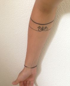 Tattoo bike biketrip minimalist