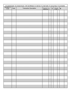 free printable checkbook register templates checkbook register
