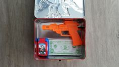 """Found this while helping my 5 year old son clean his room.. He said it's for """"just in case."""""""