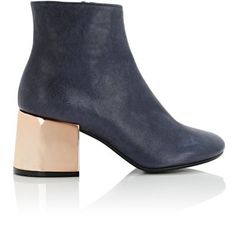 MM6 Maison Margiela Mirrored-Heel Ankle Boots at Barneys New York