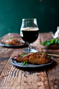 Porter Ginger Glazed Salmon. 20 minutes and SO good! #salmon #recipe #quick #easy #asian