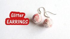 Glitter Bauble Earrings (Christmas DIY Crafts) // VLOGMAS DAY 13