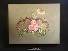 Fairy Crown painting fantasy still life original art ooak by 4WitsEnd, via Etsy