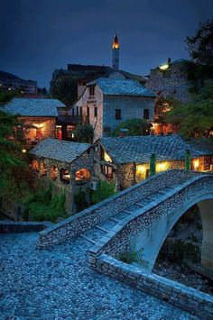 Beautiful ! ancient village mostar bosnia and herzegovina