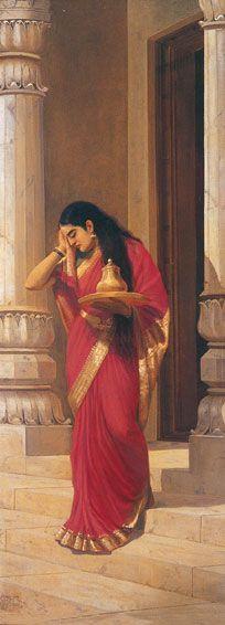 Ravivarma painting -courtesy of Jaganmohan Palace, Mysore
