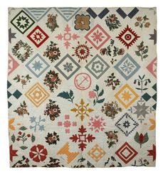 Blanchard Family Quilt, c. 1850, Maine Historical Society, Portland, ME Probably not a potholder, but related!