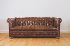 Hey, I found this really awesome Etsy listing at https://www.etsy.com/listing/198942175/vintage-brown-leather-chesterfield-sofa