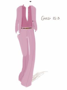 Total Pink! Gucci SS13.   #fashion #illustration Open Toe.   Post: http://opentoe.posterous.com/total-pink