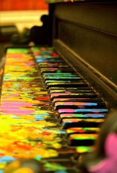 Piano, maybe glow in the dark paint/markers so you could still play, ----