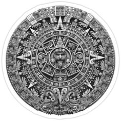 I decided to recreate the Aztec Sun Stone using a broader color palette than that which was available to the Aztecs. This is one of the most accurate renderings of the Sun Stone to date. Aztec Tattoos Sleeve, Mayan Symbols, Viking Symbols, Egyptian Symbols, Viking Runes, Ancient Symbols, Mayan Tattoos, Indian Tattoos, Aztec Drawing
