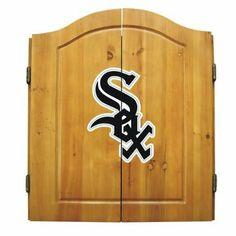 97eacba49 Amazon.com  MLB Team Dartboard Cabinet Set Style  Atlanta Braves  Sports   amp