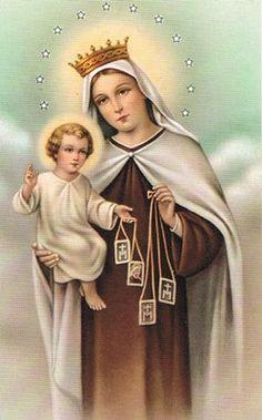 JULIO 16, Día de la Virgen del Carmen.