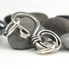 Handmade Silver Clasp Sterling WireWrapped Jewelry by OzmayDesigns, $7.99