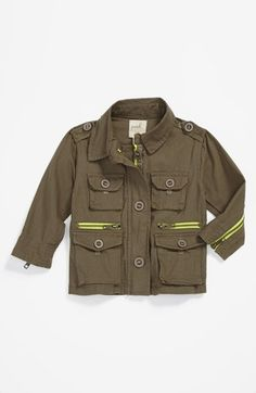 Peek 'McCabe' Military Jacket (Baby Girls) available at #Nordstrom