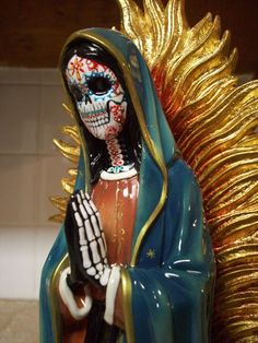 LARGE DAY OF THE DEAD GUADALUPE / VIRGIN MARY