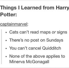 Nothing applies to McGonagall