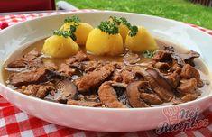 Vepřové nudličky na houbách   NejRecept.cz 20 Min, Beef, Chicken, Food, Drinks, Meat, Drinking, Beverages, Eten