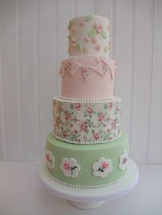 Vintage Weding cake  by The Stables Pantry  - http://cakesdecor.com/cakes/295860-vintage-weding-cake