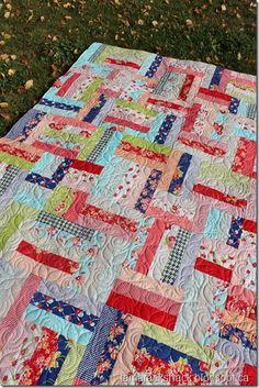Tamarack Shack: Popsicle Sticks Quilt | Strip and Jelly Roll ... : popsicle sticks quilt pattern - Adamdwight.com