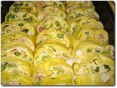 Rotolo di pasta e asparagi