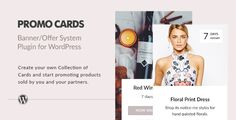 Promo Cards - Banner/Offer System Wordpress Plugin . Promo Cards – Banner/Offer System Plugin is designated to fast and comfortably create Cards and to combine them into collections. With the help of a convenient filter it is possible to combine different Cards into a single collection. Each collection can be displayed in 8 different views.