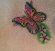 3D Butterfly Tattoos | 3D-colorful-butterfly