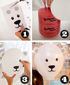 #DIY Polar Bear Balloons