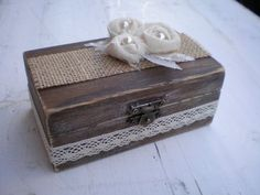 Rustic Ring Bearer Box-Wooden ring box- Wooden Engagement Ring Box-Proposal ring box