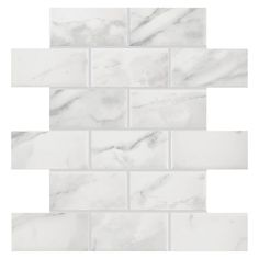 American Olean Mooreland Carrara White Subway Mosaic Ceramic Wall Tile (Common: 11-in x 11-in; Actual: 10.93-in x 10.93-in) $6.95/sf