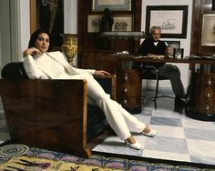 B/tch, I'm Working… (In Gianni's mind) Monica Belluci and Gianni Versace. 1995. D.R.
