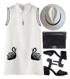 """""""Strollin' so casually"""" by mihreta-m ❤ liked on Polyvore featuring Chanel and Chibi Jewels"""