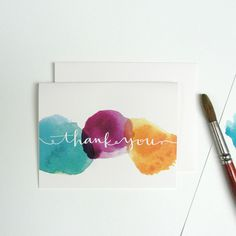 Calligraphy and Watercolor