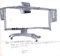 Thank you notes for SMART Board from students at Ayers Elementary School of Mount Diablo USD in Concord, CA.