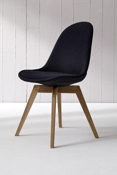 2x Stuhl BESS fabric schwarz/eiche || Tenzo BESS