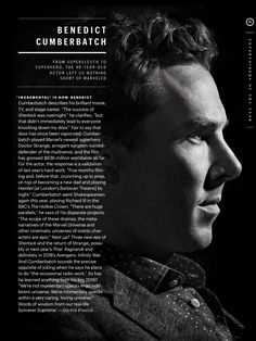 "talalyla: ""  Entertainment Weekly names Benedict Cumberbatch one of its Entertainers of the Year. """