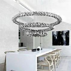 [ $48 OFF ] 3 Rings+3 Surface Crystal Design Modern Lighting Chandelier Lustres Home Decoration Dia60+40+20Cm