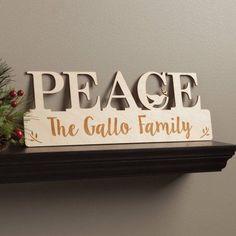 Peace Personalized Wood Plaque, Multicolor