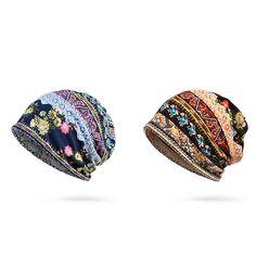 c5cd1b7d861 Women Cotton Print Stripe Bonnet Hats Casual Outdoor Sun Cap Multi-function  Towel Sun Cap