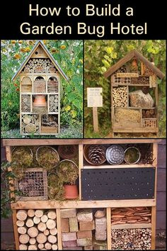 to Build a Garden Bug Hotel Attract beneficial insects into your garden by building this bug hotel!Attract beneficial insects into your garden by building this bug hotel! Bug Hotel, Garden Bugs, Garden Care, Garden Types, Garden Crafts, Garden Projects, Pot Jardin, Diy Casa, Olive Garden