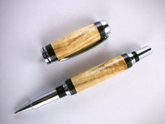 Wooden Pen Handcrafted Curly White Oak from by MikesPenTurningZ, $58.00