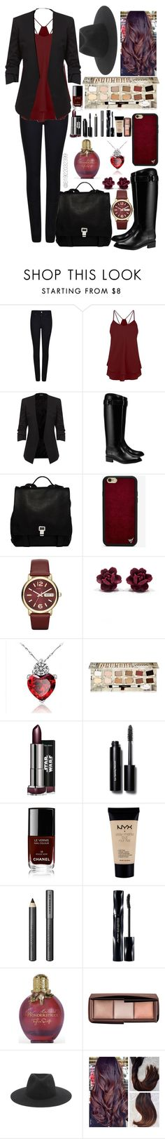 """""""Heartbreak's the National Anthem We Sing it Proudly."""" by el1922032399 ❤ liked on Polyvore featuring Giorgio Armani, Tory Burch, Proenza Schouler, Wildflower, Marc by Marc Jacobs, TheBalm, Bobbi Brown Cosmetics, Chanel, NYX and Burberry"""