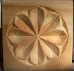 Carved Wood Floral Style Rosette Corner Block in Pine