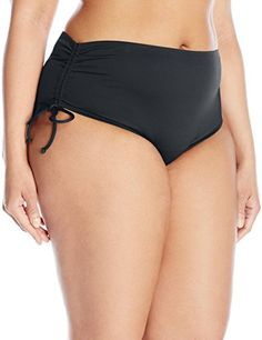 BEACH HOUSE WOMAN Women s Plus-Size Hayden Hi-Waist Bikini Bottom b54906345db7d