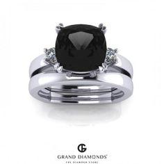 2.60cts Black Diamond Wedding set RL0177
